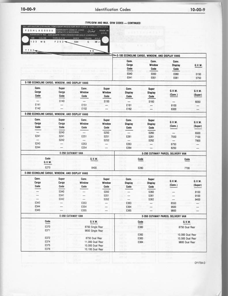 1978 ford truck manual-volume 1 chassis