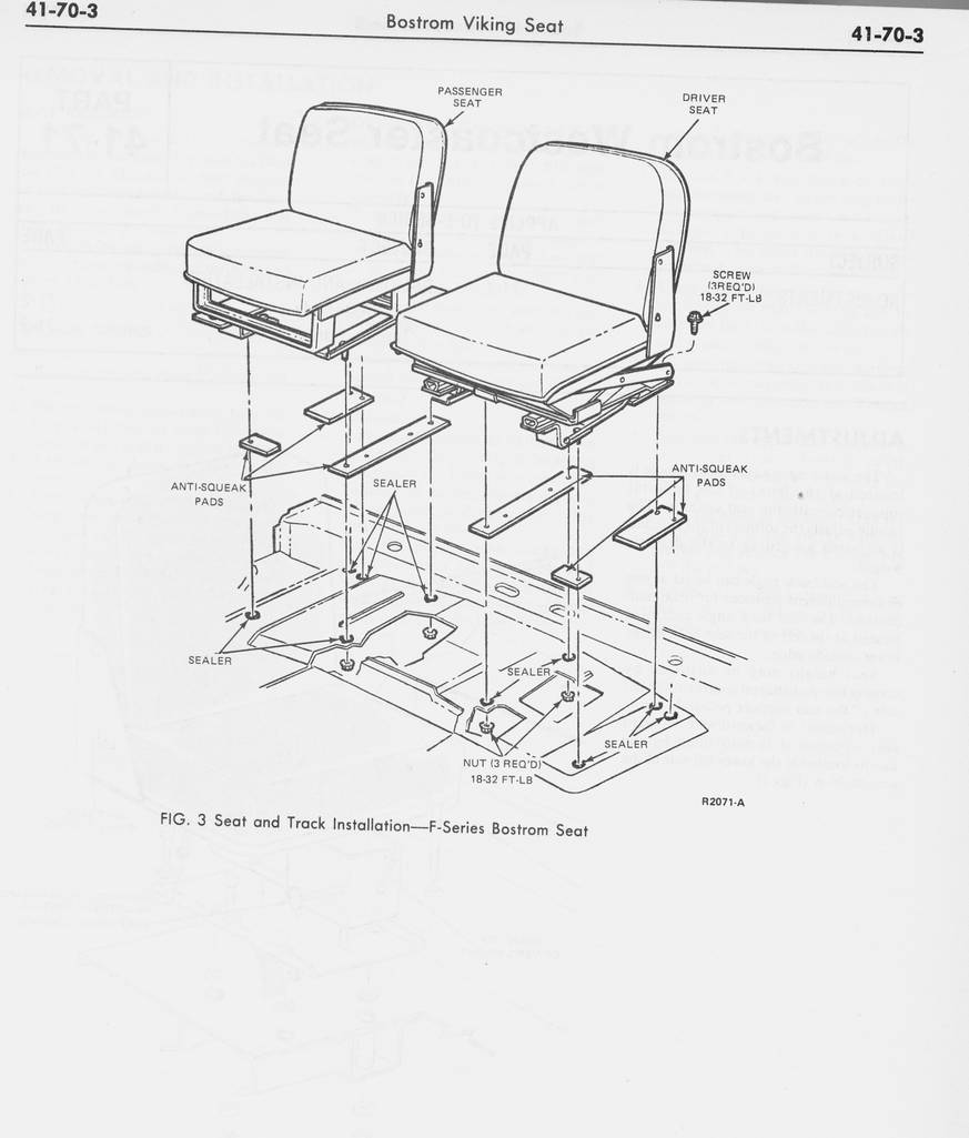 1978 Ford Shop Manual Vol 3&4 - Group 41 - Seats [Archive