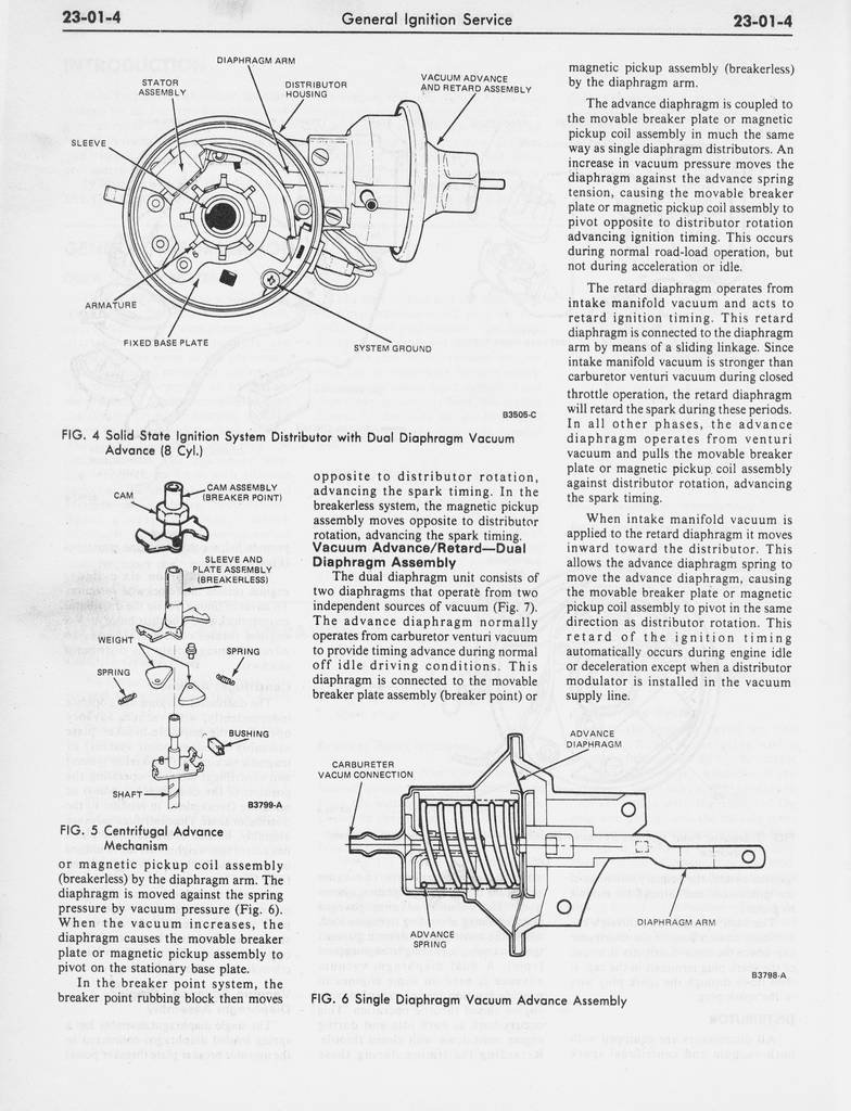 1978 ford shop manual vol 2 - group 23 - ignition system