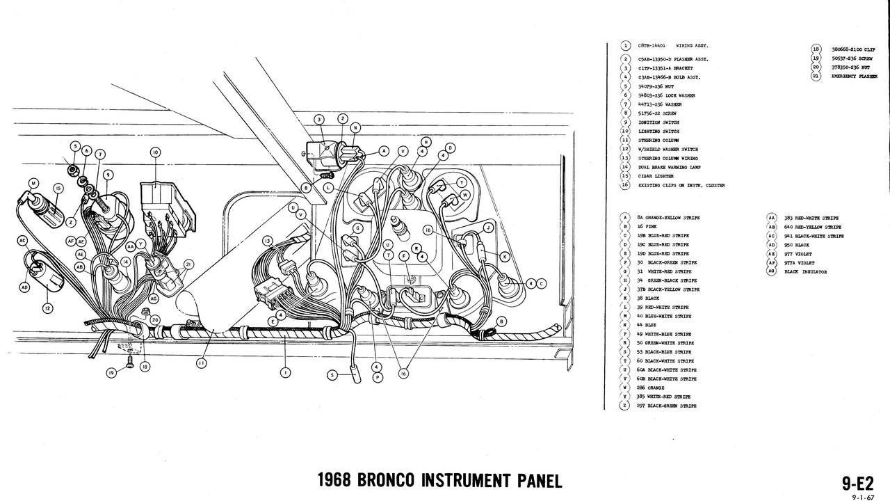 1968 Ford Bronco Wiring Diagram Opinions About 1971 Diagrams Truck Fanatics 1974 1970