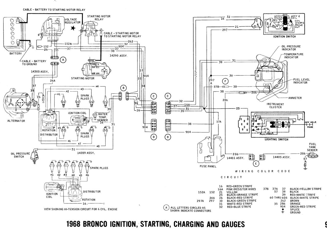 1968 Ford Bronco Wiring Diagram Opinions About 1971 Diagrams Truck Fanatics 1974 1989