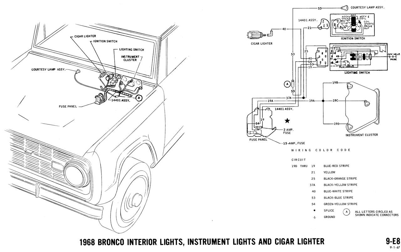 1968 Ford Bronco Wiring Diagram Opinions About 1971 Diagrams Truck Fanatics 1966 1979