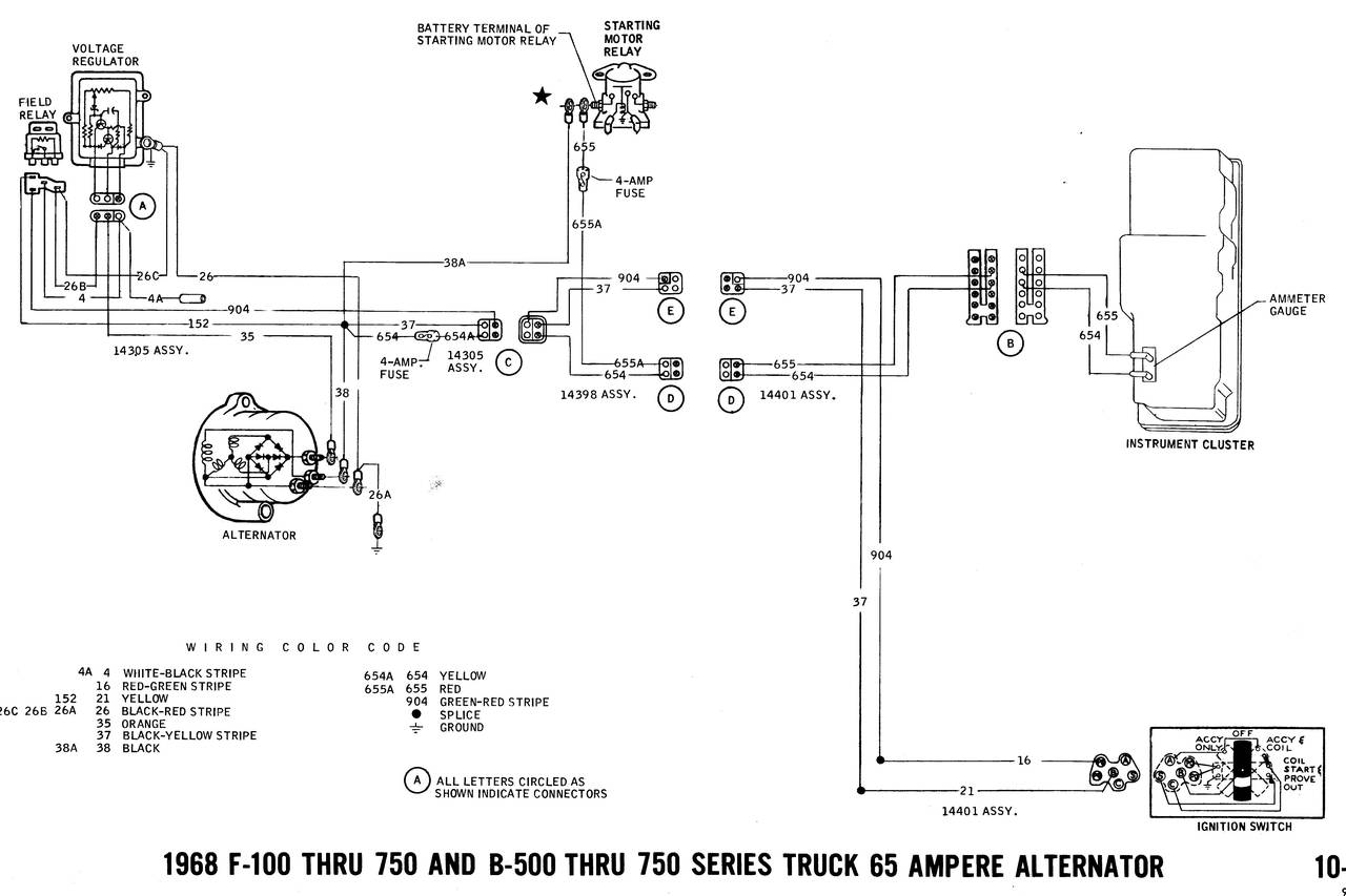 1968 Ford Pickup Wiring Diagram Diagrams 1966 Truck Fanatics Electrical 1978