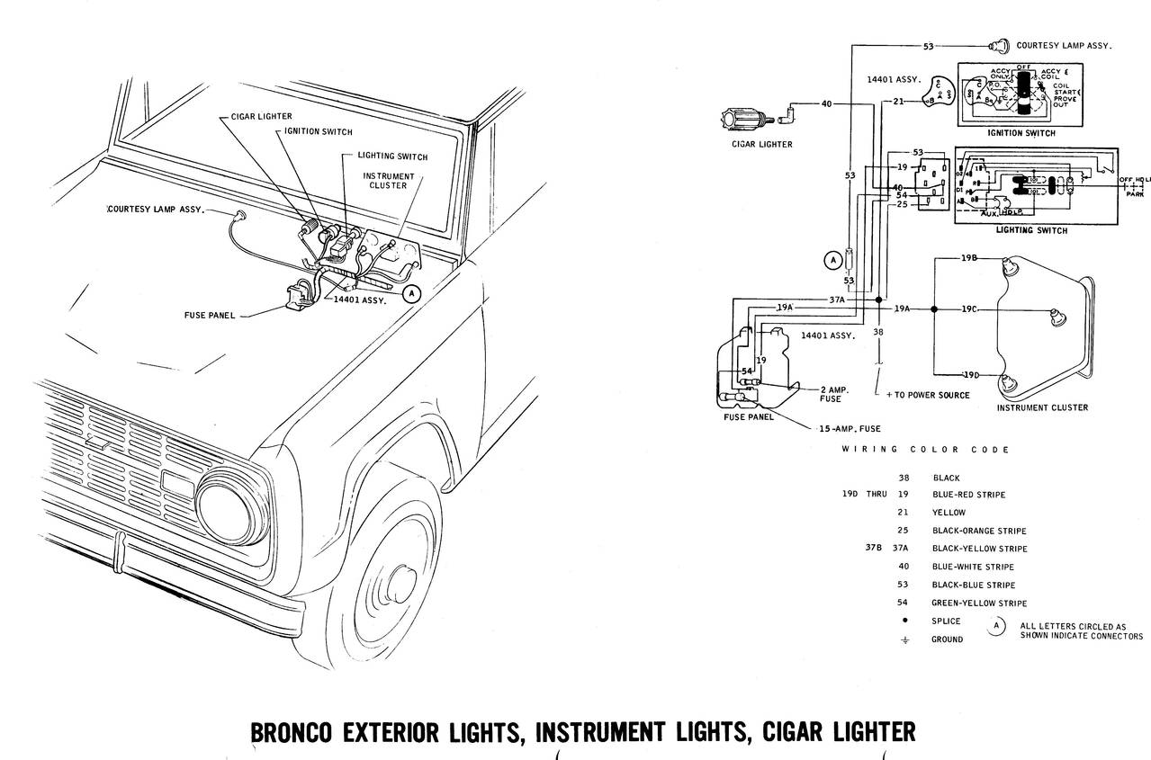 1971 Bronco Wiring Diagrams Ford Truck Fanatics Diagram