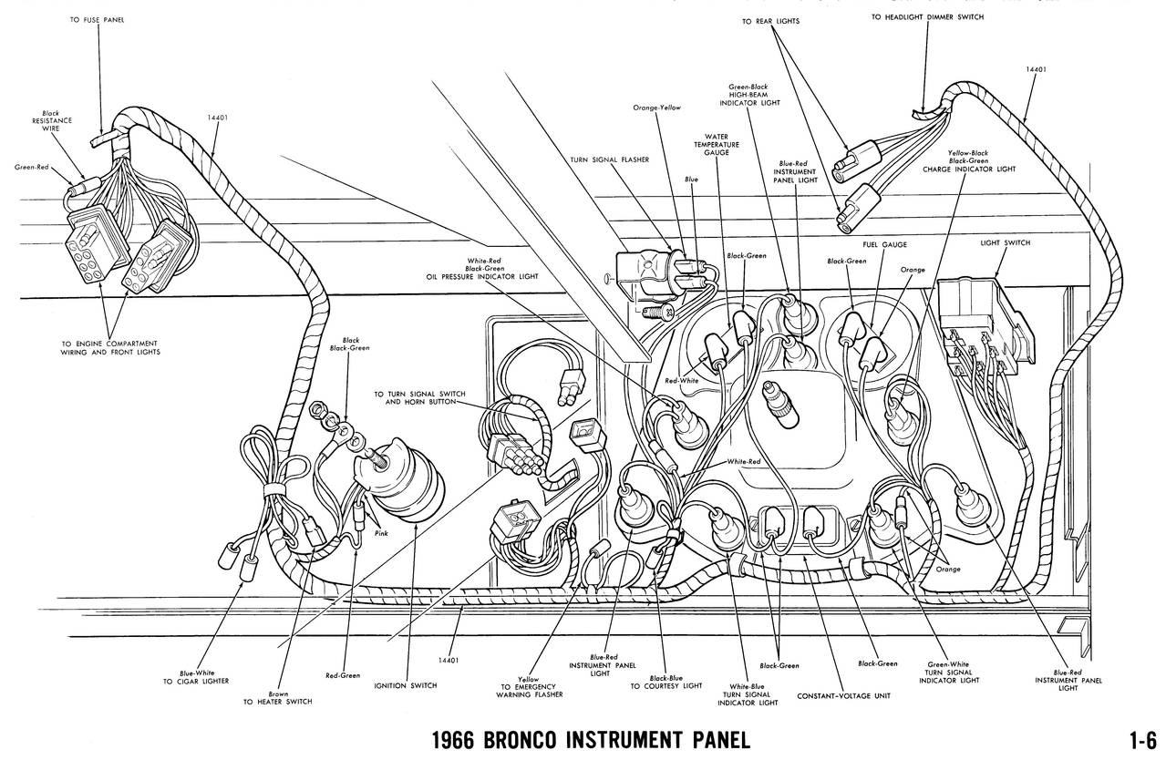 1966 bronco wiring diagrams ford truck fanatics. Black Bedroom Furniture Sets. Home Design Ideas