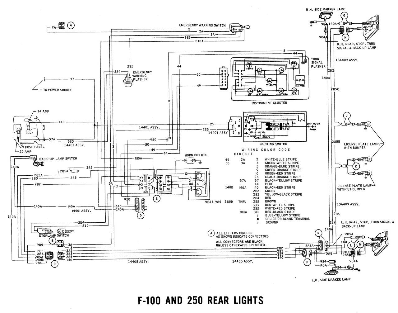 1971 wiring diagrams - ford truck fanatics 1971 ford truck wiring diagrams